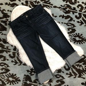 Simply Vera Wang Dark Wash Crop Cuff Capri Jeans